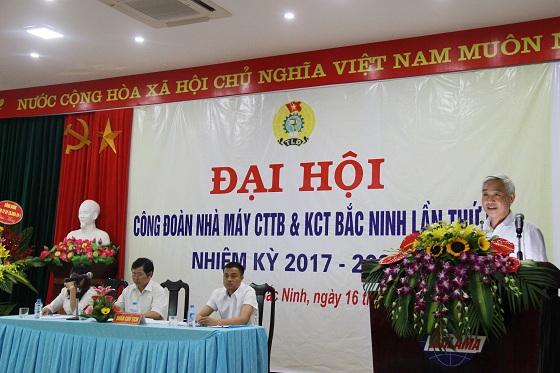 Nhà máy Chế tạo Thiết bị và Kết cấu thép Bắc Ninh tổ chức Đại hội công đoàn lần thứ IV nhiệm kỳ 2017-2022