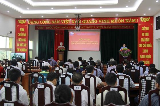 Đảng bộ Lilama 69-1 triển khai học tập, quán triệt Nghị quyết trung ương lần thứ năm, khóa XII của Đảng